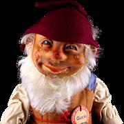 Early Post WWII Large Steiff Gucki Dwarf Doll Figure All ID - Red Tag Sale Item