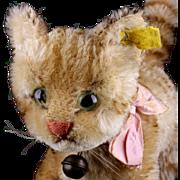 Rare Big Sister Steiff Tapsy Cat Kitten 2 IDs