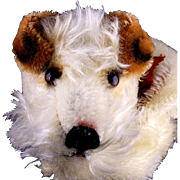 Gorgeous Steiff Foxy Fox Terrier Puppy Dog Hand Puppet All ID
