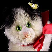 Rare Tiny Adorable Baby Sister Steiff Cat Kitten Gussy ID