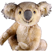 Rare Middle Brother Steiff Koala Bear (NOT!) '55-'61 Only ID