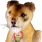 Rare Tiny Sweet Steiff Seated Lea Lady Lion Lioness Wild Cat ID Amazing Coloring