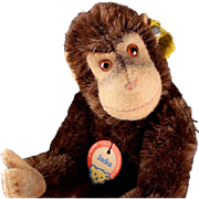 Little Brother Steiff Jocko Chimpanzee (NOT) Monkey All ID