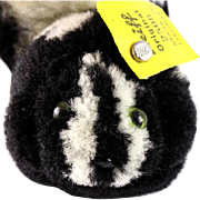 Rare Steiff Wool Miniature PomPom BEGGING Skunk All ID '55-'58