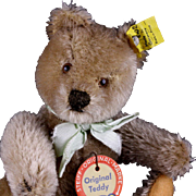 Not Commonly Seen 18 CM Transitional Size Caramel 5xJointed Steiff Original Teddy Bear All IDs