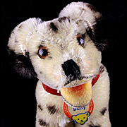 Tiny Baby Brother Rare Steiff Happy Dally Dalmatian Puppy Dog ID