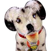 Tiny Baby Brother Rare Steiff Happy Dally Dalmatian Puppy Dog ID