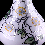 Handpainted German Porcelain Bud Vase Silver Overlay by Manfred Veyhl TWO Rare Marks