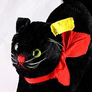 Handsome Big Brother Steiff BLACK Tom Cat Kater 2 IDs Not Just for Halloween