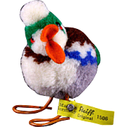 Early Post WWII Steiff Colorful Wool Miniature Erpel Drake Duck Bird All ID