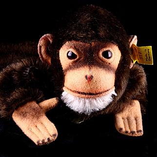 Earliest Post WWII Model #317 Steiff Jocko Chimpanzee (NOT MONKEY) Hand Puppet All ID