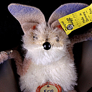 Creepy but Cute Rare Little Brother Steiff Eric Bat All ID Great for Halloween