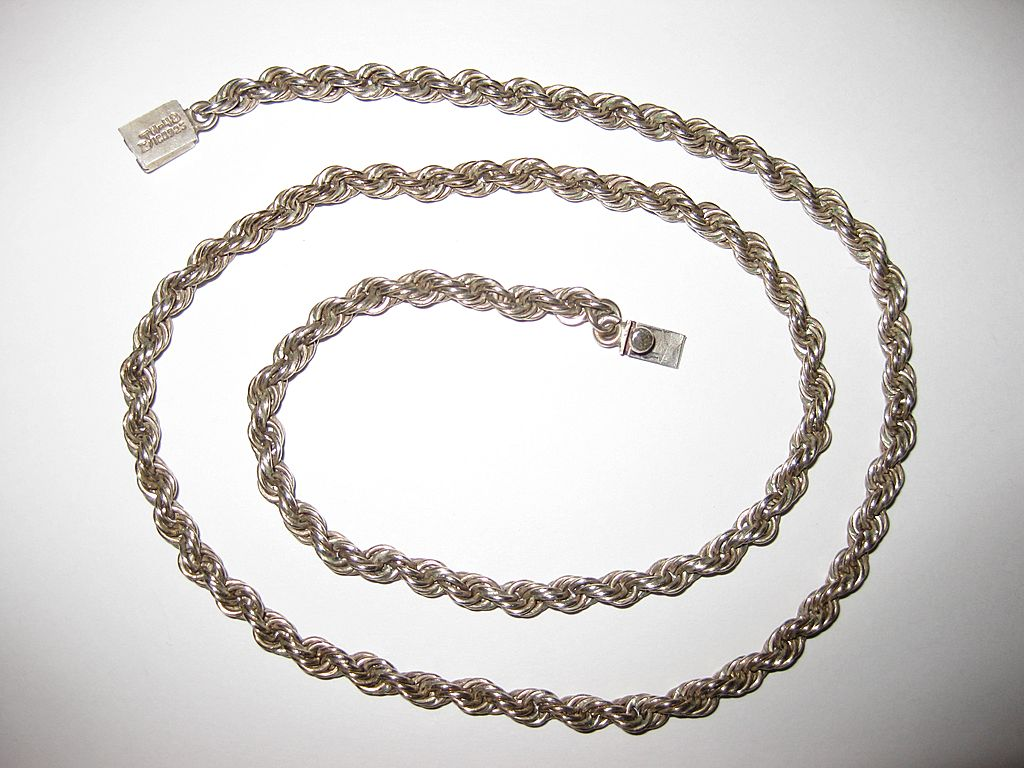 Sterling Twist Chain Necklace, Taxco, Mexico