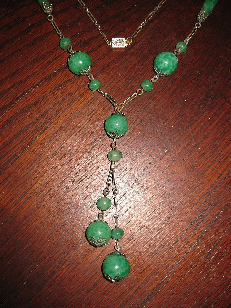 Peking Glass Long Necklace