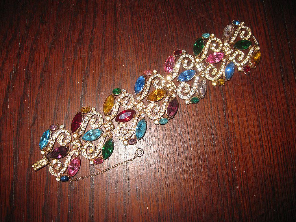 Wiesner Multi Color  Bracelet and Dress Clips