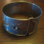 Charles Horner Chased Sterling Belt Bracelet - English