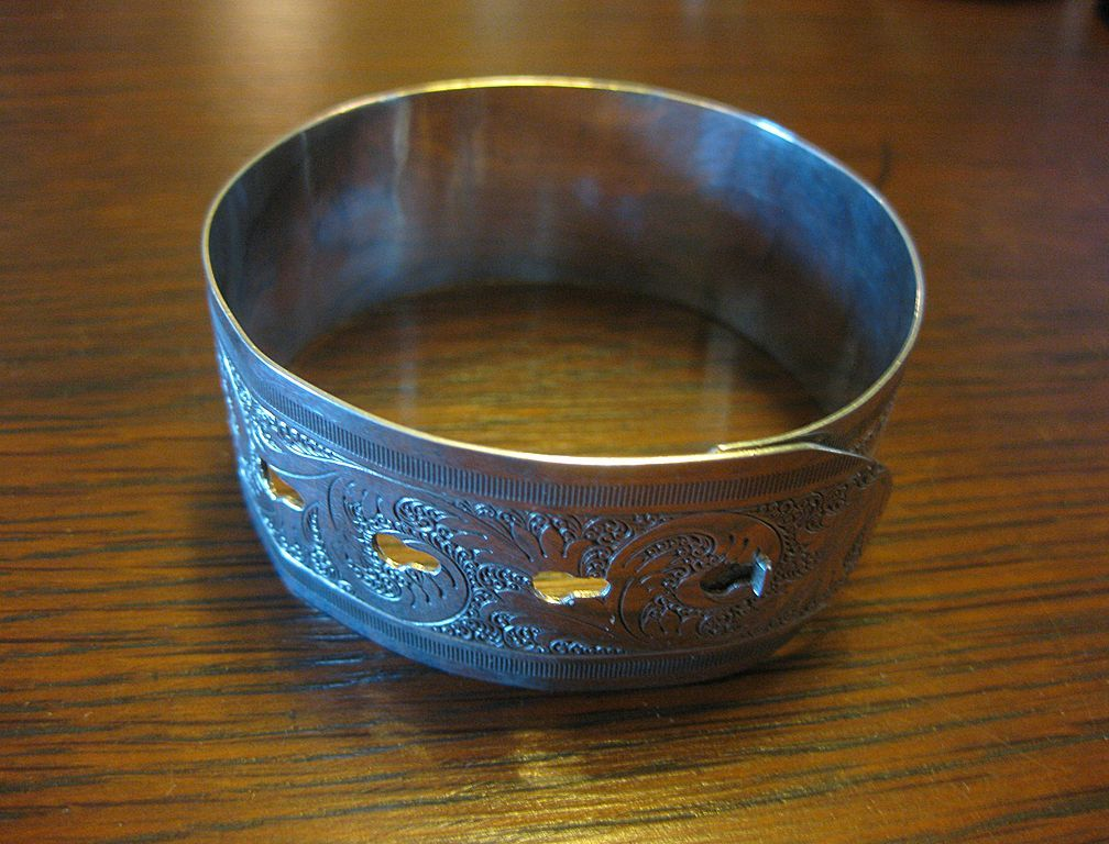 Charles Horner Sterling Belt Bracelet - English Hallmarks