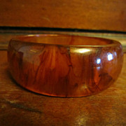 Tortoise Bakelite Bangle