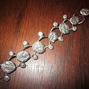 Modernist Jacob Hull  Nugget Link Bracelet