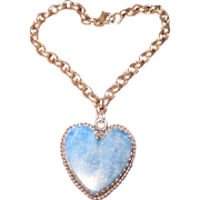 Joan Slifka Sterling Bracelet with  Denim Lapis Heart Charm
