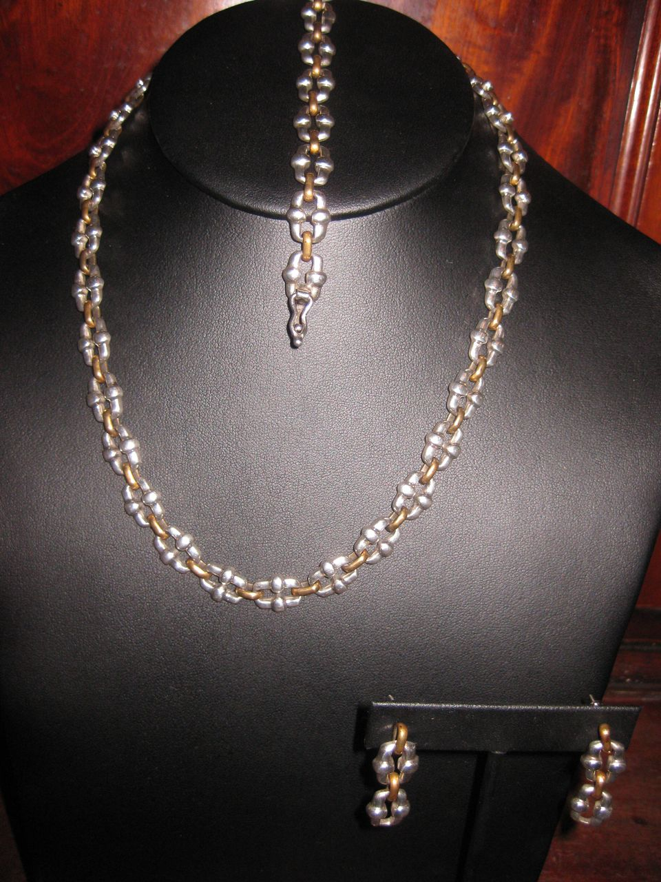 Tane Style Link  Sterling Necklace, Bracelet and Earrings