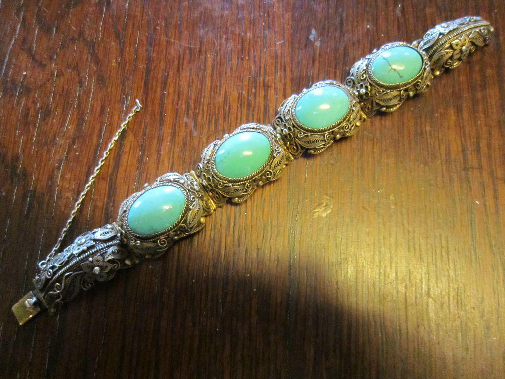 1920-1930 Exceptional Chinese Turquoise Bracelet