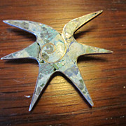 Taxco, Mexico Sterling and Crushed Turquoise Starfish Brooch