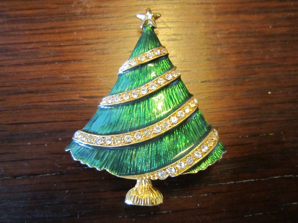 Eisenberg Ice Green Enamel Christmas Tree - Book Piece