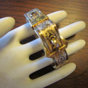 Edwardian Gold Filled Buckle Bracelet - Hinged
