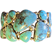 SALE $150 OFF: Sterling Turquoise Cuff Bracelet