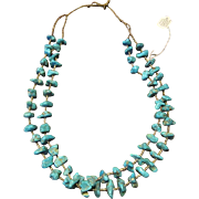 SALE 25% OFF: Old Natural Kingman Turquoise Nugget Necklace