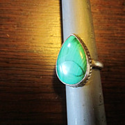 Genuine Malachite Sterling Ring