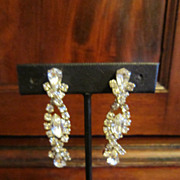 Clear Rhinestones Dangle Earrings