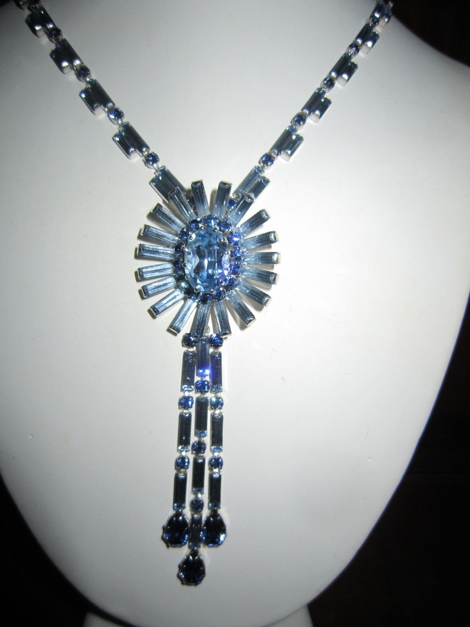 DeLizza and Elster Rhinestone Necklace in Blues