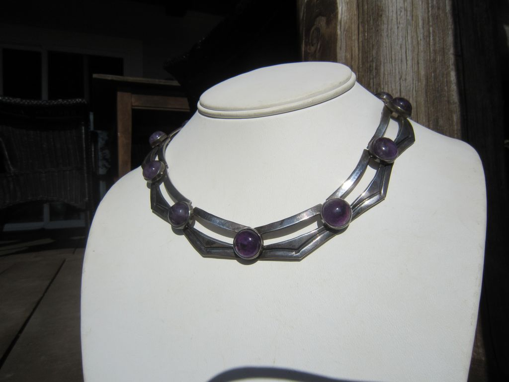 Carmen Beckmann Sterling Amethyst Necklace - Mexico