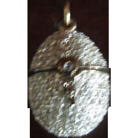 Swarovski Crystal Easter Egg Pendant - Opens