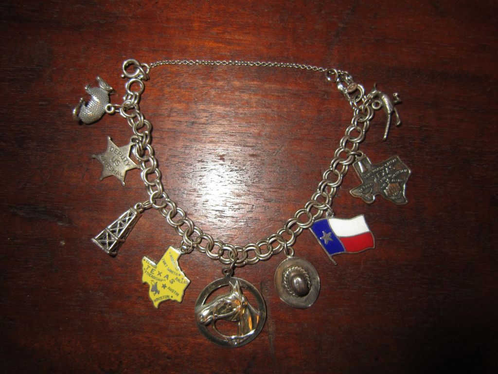 Sterling Charm Bracelet - All About Texas