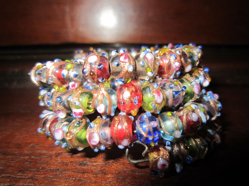 Venetian Wedding Bead Memory Wrap Bracelet