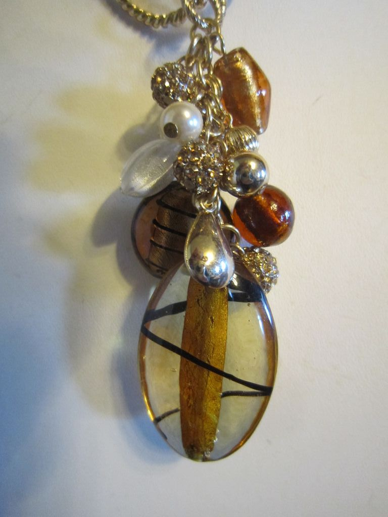 Estate Necklace with Venetian Bead Pendant