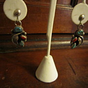 Zuni Sterling Earrings by Linda Eustace