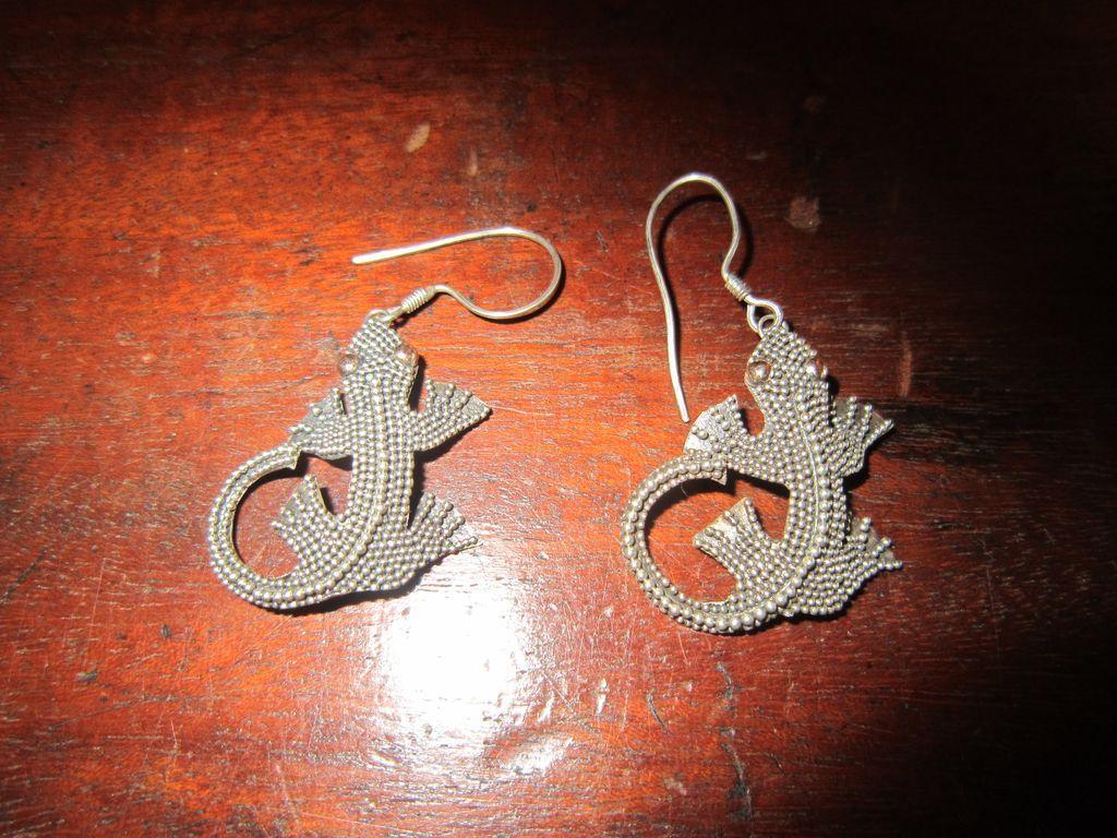 Sterling Gecko Earrings
