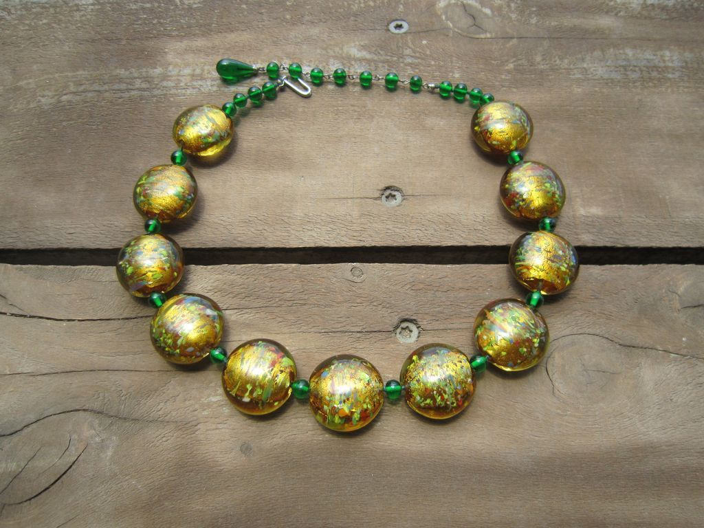 Venetian Sommerso Glass Bead Necklace
