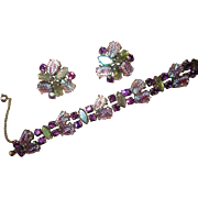 Magnificent Schiaparelli  Bracelet and Earrings