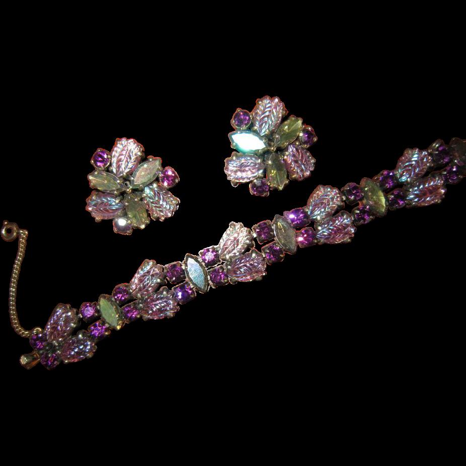 Magnificent Schiaparelli  Bracelet and Earrings