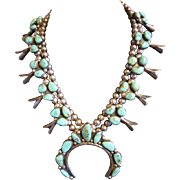 Squash Blossom Sterling and Turquoise