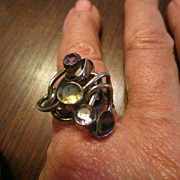 Studio Sterling Ring with Gems