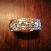 Navajo Sterling Heart Cuff Bracelet - Sunshine Reeves