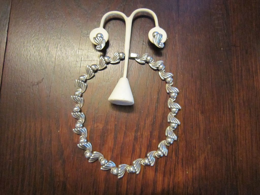 Antonio Reina Sterling Necklace and Earrings - Taxco