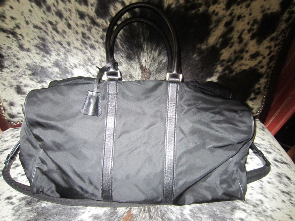 Authentic Vintage Prada Black Weekender Travel Bag
