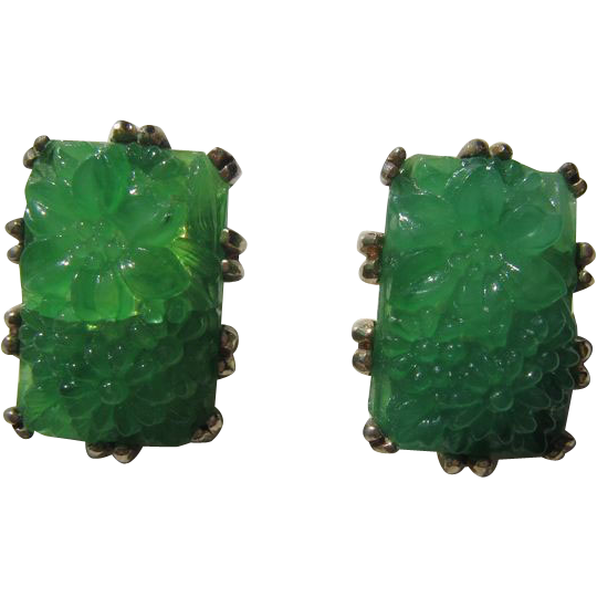 Reja Faux Jade Earrings